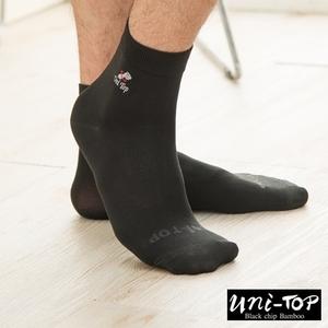 黑晶纖維竹炭腳踝襪(黑)-男